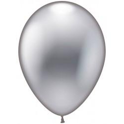 Balloner, sølv metallic - Ø 28-30 cm - 10 stk.