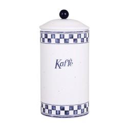 """Rund kaffedåse - """"Blå Edith"""""""