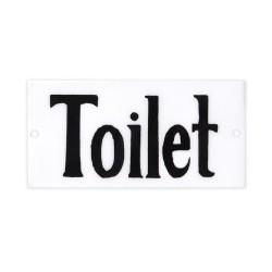 """Emaljeskilt - """"Toilet"""""""