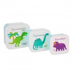 Snackbokse - Dinosaur - 3 stk.