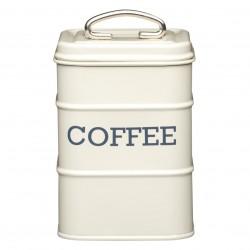Firkantet kaffedåse - Creme
