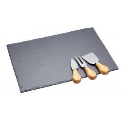 Artesà ostebræt og knivsæt - skifer