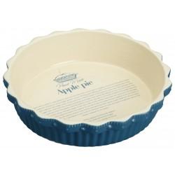 Tærtefad - 26 cm - Blå
