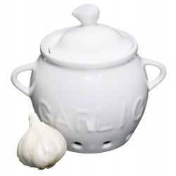 Hvidløgskrukke - Porcelæn