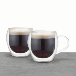 Espressokopper, 2 stk. - Dobbeltvægget glas