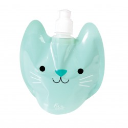 Foldbar vandflaske - Cookie the Cat