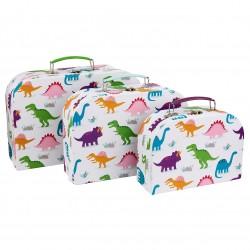 Kuffertsæt - 3 stk. - Dinosaur