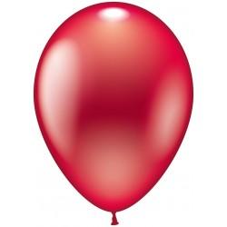 Balloner, rød metallic - Ø 28-30 cm - 10 stk.