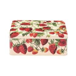 Metaldåse med jordbær
