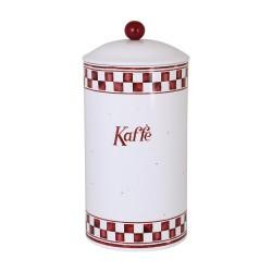 Rund kaffedåse - Rød Edith