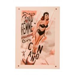 """Postkort """"Femme canon"""""""