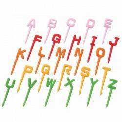Madpinde - bogstaver - 26 stk.