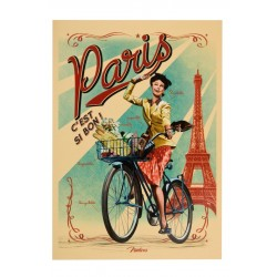 "Postkort ""Paris Paulette"""