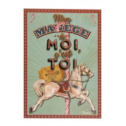"Postkort ""Mon manège à moi"""