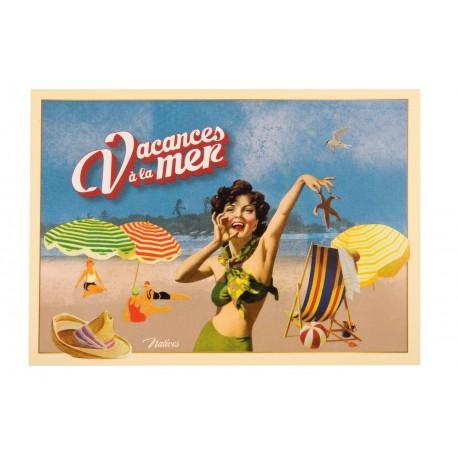 """Postkort """"Vacances à la mer"""""""