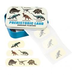 Dåse med plastre - Prehistoric Land - 30 stk.