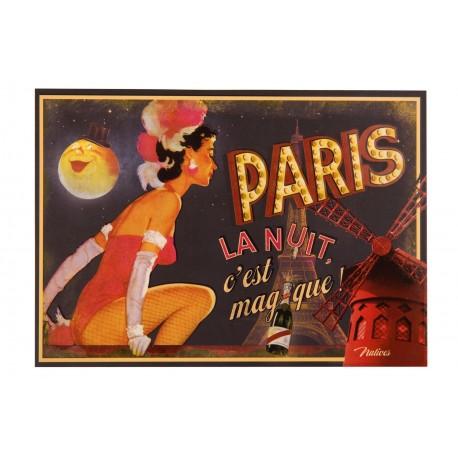 "Postkort ""Paris la nuit"""