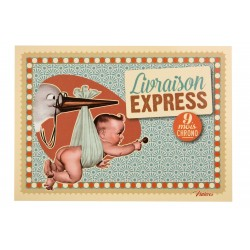 "Postkort ""Livraison express"""