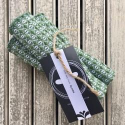 Vaffelvævede karklude - Grøn - 3 stk.