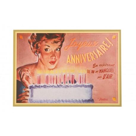 "Postkort ""Gâteau d'anniversaire"""