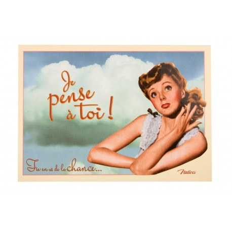 "Postkort ""Je pense à toi"""