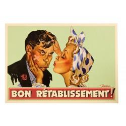 "Postkort ""Bon rétablissement"""