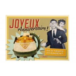 """Postkort """"Anniversaire aspiration homme"""""""
