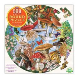 eeBoo rundt puslespil - Sommerfugle & svampe - 500 brikker