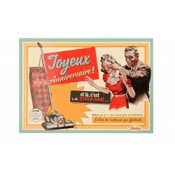 "Postkort ""Anniversaire aspiration femme"""