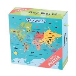 Mudpuppy jumbo puslespil - Vores Verden - 25 brikker