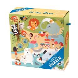 Mudpuppy jumbo puslespil - I Zoo - 25 brikker