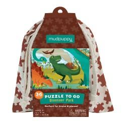 Mudpuppy puslespil - Dinosaur - 36 brikker