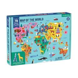 Mudpuppy puslespil - Verden - 78 brikker