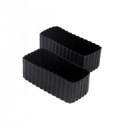 Bento Cups - Rektangulære - Sort