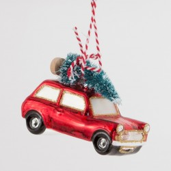 Julekugle - Vintage bil