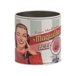 """Metaldåse til makeup """"Maquille-âge"""""""