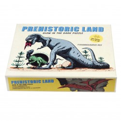 Selvlysende puslespil - Prehistoric Land - 100 brikker