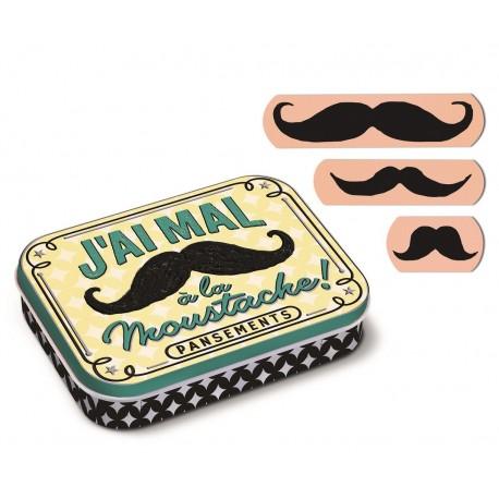 "Dåse med plastre ""Moustaches"""