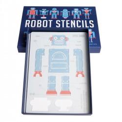 Tegneskabeloner - Robot - 4 stk.