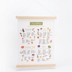 Plakat med grøntsager - 40 x 50 cm