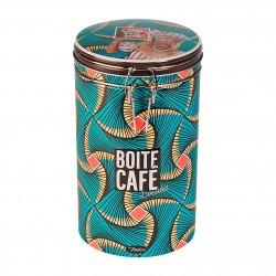 Rund kaffedåse med patentlåg - Goût Voyage