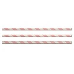 Papirsugerør lyserød, 25 stk.