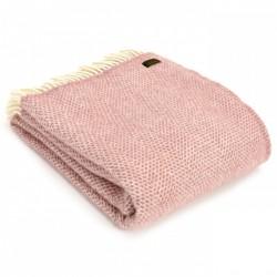 Tweedmill uldplaid - Beehive Dusty Pink - 150x183 cm