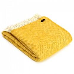 Tweedmill uldplaid - Beehive Yellow - 150x183 cm
