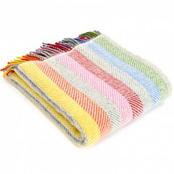 Tweedmill uldplaid - Rainbow Grey - 150x183 cm