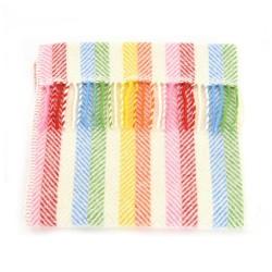 Tweedmill babytæppe - Rainbow Grey - 68x73 cm