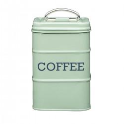 Firkantet kaffedåse - Sage grøn
