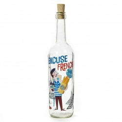Flaske m. korkprop - Excuse my French