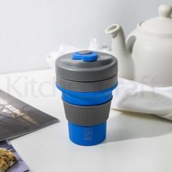 Foldbar kaffekop - 350 ml - Blå
