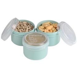 Snackbøtter 3 stk. - Mint - Sistema Renew